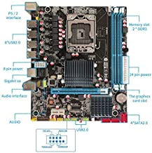 (R.I.G. Computers) lntel X58 / LGA 1366 mATX Motherboard (Up to 16GB) with Installation Guide, WiFi Antenna, Gaming, OC
