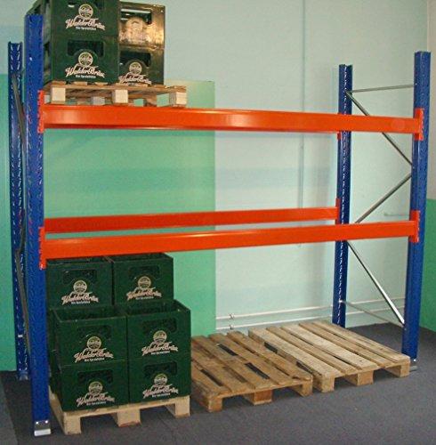 SLP B 2,9 m H 2,74 m Palettenregal Hochregal Schwerlastregal Regal Lager 3000 kg