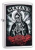 Zippo Mayans - Mechero de Bolsillo Unisex (Cromo Cepillado, Talla única)