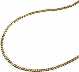 Unbespielt Bijoux Collier de cha/îne unisex figaro en argent 925 collier pendentif de longueur 50 cm de largeur de 5x1,3 mm y compris bo/îte /à bijoux