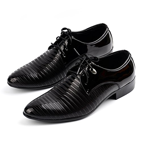 Men's Lace-up Designer Shoes Pointed Toe Formal Wedding Oxford Black US 12