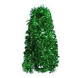DECORA Green Tinsel Garland for Christmas Tree Decorations Wedding Birthday Party Supplies 33 FEET