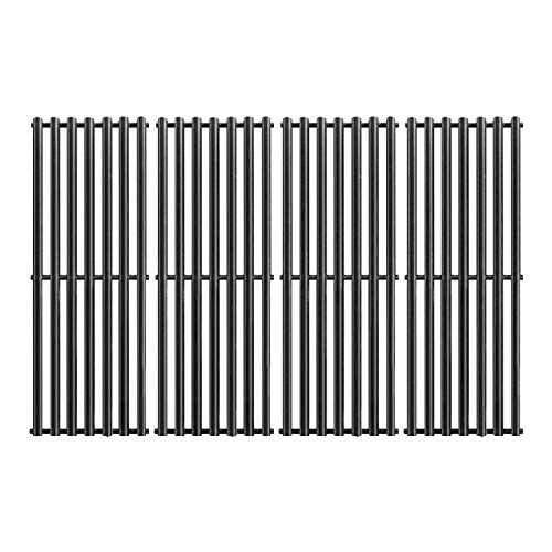 BBQ funland 17 3/8 Inch Porcelain Enameled Cooking Grid Replacement for Select Gas Grill by Broil-Mate, Broil King 9625-67, 9625-84, Baron 320, Baron 340, Huntington and Sterling, Set of 4 Grates