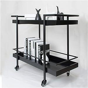 WB_L Kitchen Islands & Carts European Movable Dining Cart Stroller Racks Home Kitchen Trolley Rack Tea Cart Wine Drink Car Fruit Shelf (Size : B)