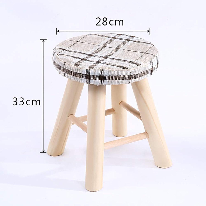 BBG Fashion Creative Small Furniture Anti-Slip Stool Modern Minimalist Wood Stool Multi-Function Home Change shoes Stool Footstool Dressing Stool Multifunction Household Creative