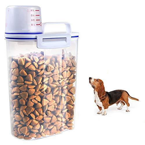 anruo Hondenvoer Opslag Kat voor kattenvoer Container Meeldauw Anti-oxidatie Opslag met grote capaciteit Droogvoer Dispenser Emmer