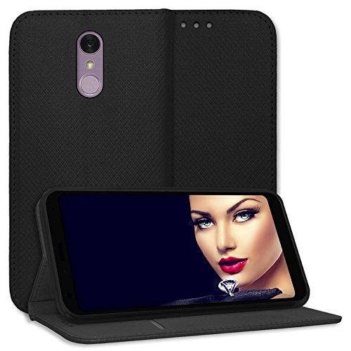 mtb more energy® Schutz-Tasche Bookstyle für LG Q7, Q7+, Q7 Plus (5.5'') - schwarz - Kunstleder - Klapp-Cover Hülle Hülle