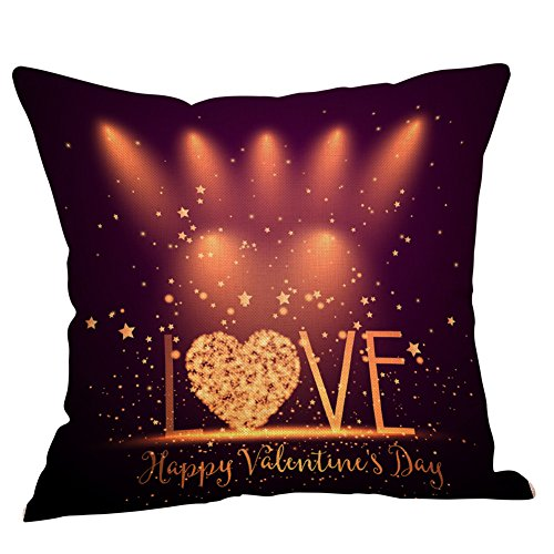 Taie d'oreiller Housses de Coussin Décoratif Throw Pillow Saint Valentin Housse d'oreiller Coussin de canapé Home Decor carré Couvre-lit décoratif Pillowcase Impression d'amour Styles 6 WINJIN