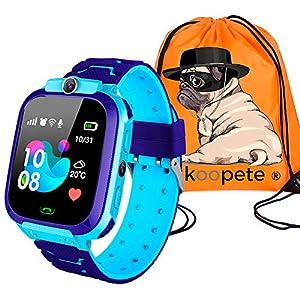 51guvjZJrXL. SS300  - Koopete.Smartwatch niños.Regalo de Mochila.Reloj Inteligente niños con localizador LBS,cámara Fotos,Llamadas,botón SOS,Pantalla táctil,Juego,Despertador,Linterna. (Rosa)