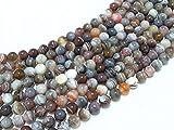 Beads Ok, Perline Pietra Gemma Semi Preziose Agata Botswana Grade AA Naturale Rotondo Liscio 6mm Circa 38cm Un Filo. Venduto da Filo. 6mm Round Natural Botswana Agate AA Grade Gemstone Beads