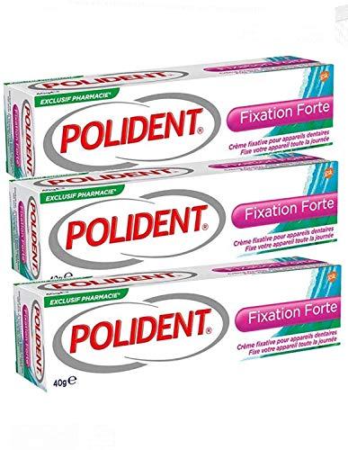 Polident GSK Starke Fixierungscreme für Teil- oder Vollprothese, 3 Tuben à 40 g (3)