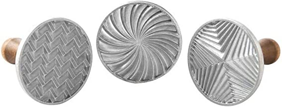 Nordic Ware 1245 Geo Cast Cookie Stamps Silver
