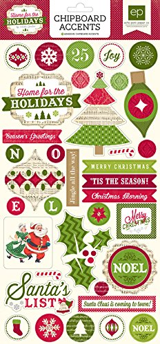 """Home For The Holidays Chipboard Accents 6""""X13""""-"""