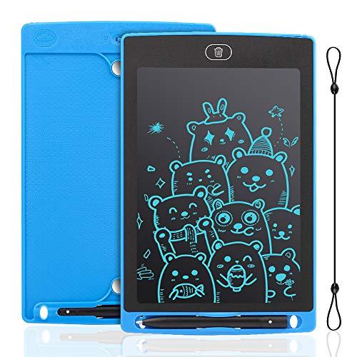 IDEASY LCD-Schreibtablett 12 Zoll, einfarbiges Zeichenbrett, Doodle Pad, elektronisches LCD-Schreibtafel für Kinder, perfekt für Schule, Zuhause und Büro (Blau)