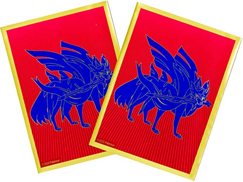 Pokemon Sword & Shield Card Sleeves Zacian - 65 Sleeves per Pack - Tournament Legal - Elite Trainer Box Exclusive