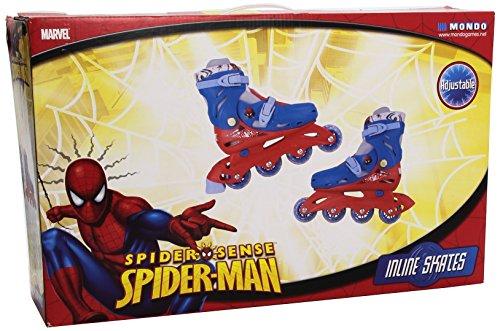 Mondo - 18495 - Vélo et Véhicule pour Enfants - Patins en Ligne Spiderman - Taille M