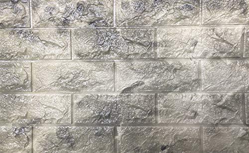 3D Tapete Wandpaneele Selbstklebend Ziegelstein Wasserdicht Wandaufkleber Tapete Wandpaneele selbstklebend Moderne Wandverkleidung in Steinoptik schnelle & leichte Montage (10 Stück,Beige/Grau Marmor)