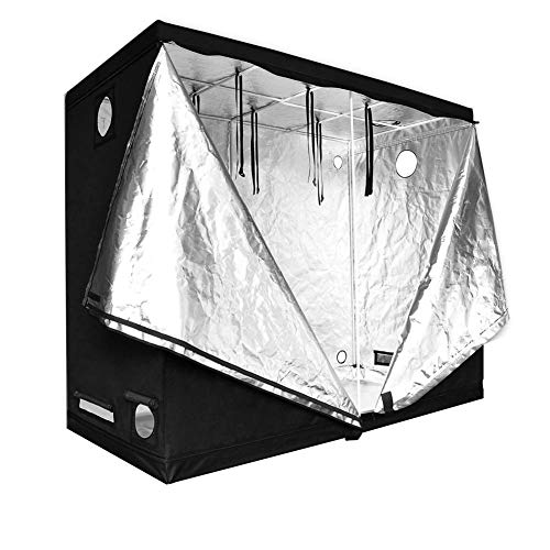 FJNS 600D Plant Grow Tent Mylar Indoor Propagation Grow Tent Box Hydroponics Room 240 * 120 * 200cm Indoor Grow Box and Grow Room with Observation Window
