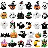 Kesote 30x Halloween Deko Streudeko Tischdeko Konfetti Kunstharz Mini Zubehör Kunstharz Miniatur Klein Figur zum Basteln DIY Geschenk Mitgebsel