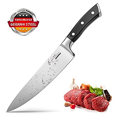 Chef Knife, Chef's Knife 8 inches, Kitchen knife High Carbon, Stainless Steel Knives With Ergonomic Handle for Home Kitchen and Restaurant (8 )