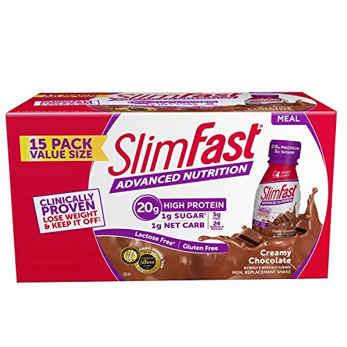 SlimFast Advanced Nutrition Creamy Chocolate Shake, 11oz (Pack of 15, Total of 165 oz)