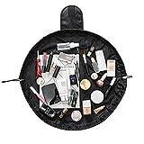 Tefamore Portable Kordelzug Travel Organizer Tasche Make-up Beauty Schmuck Kosmetische Aufbewahrung (Schwarz)