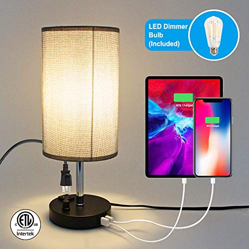 USB Bedside Table Lamp $22.99 (50% Off with code)