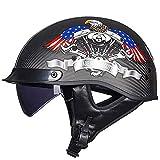 Carbon Fiber Half Helmets Dots