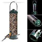 Richi Contenedor de semillas para pájaros silvestres para colgar en el jardín y al aire libre