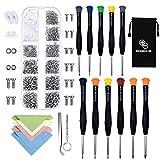 1118set 1100 tornillos pequeños para reparar gafas o gafas de sol, con almohadillas de silicona para la nariz, pinzas y 11 pcs micro...