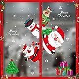 Sunshine smile Navidad Decoracion Calcomania,Pegatinas Navidad,Decoracion Navidad Pegatinas,Pegatinas Navidad Mural Decal Sticker,Ventana Navidad Adornos,Pegatina de Ventana de Navidad (HYC-97)