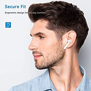 Wireless Earbuds, HSPRO Bluetooth 5.0 Headphones with Charging Case, 30H Playtime, Bluetooth Earphones One-Step Pairing, in-Ear Earphones with Mic for Running/Workout