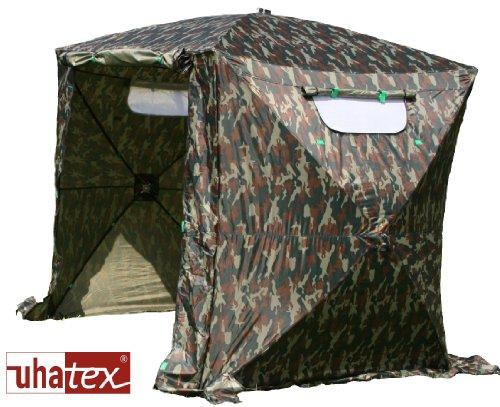 UHATEX Angelzelt, Karpfenzelt, Faltzelt, Camouflage, in 30 Sekunden alleine aufgebaut
