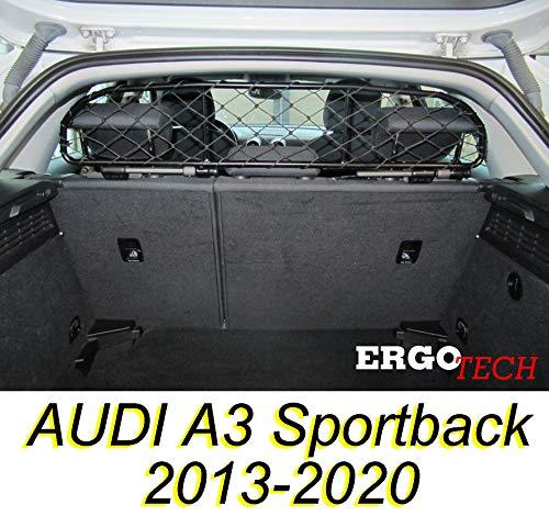 ERGOTECH Trennnetz Trenngitter Hundenetz Hundegitter für Audi A3 Sportback BJ 2013-2020
