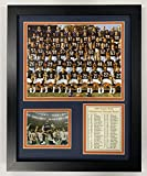 Legends Never Die Chicago Bears 1985 Super Bowl Champions Collectible | Framed Photo Collage Wall Art Decor - 12'x15'
