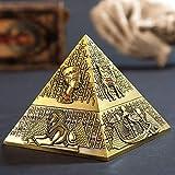 YXYSHX Pirámide de Metal decoración Familiar Hotel ktv Adornos día del Padre Pasado de Moda día del Padre-Bronce