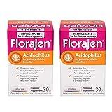 Florajen Acidophilus High Potency Probiotics   for Potent Probiotic Benefits and Supports Immune and Digestive Health   20 Billion Cfus  30 Count 2 Pack