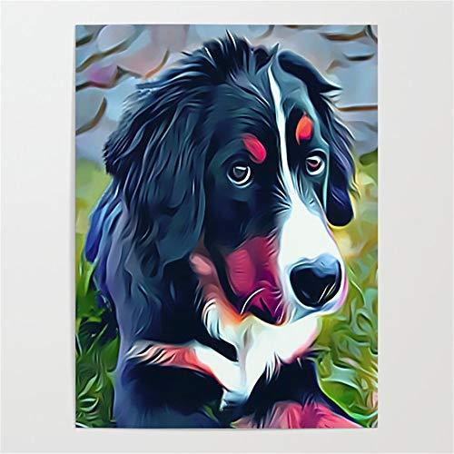 DIY-Berner Sennenhund Ölgemälde DIY Gemälde Von Digital Aquarell Bild Farbe Farbgemälde...
