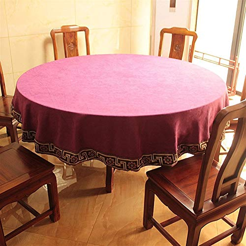 Stain stofdicht Doek Decoratieve tafellaken Simple Style Tafelkleed, Ronde Tafelkleden, For Stofvrije Tafelafdekking For Buffet Table, Partijen, Het Diner (Color : F, Size : 170cm round)