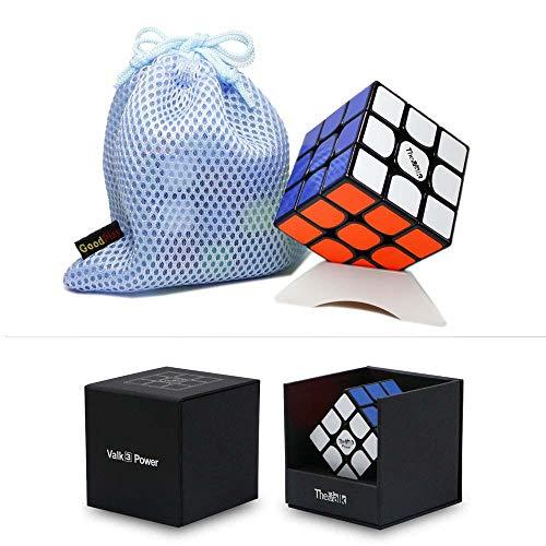OJIN VALK 3 Power Valk3 Power Magic Cube 3x3x3 Smooth Puzzle Magic Cube con One Cube Tripod y One Cube Bag (Negro)