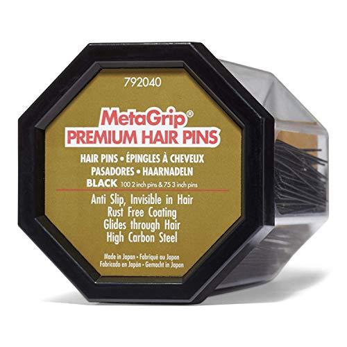 MetaGrip Premium Black Hair Pins, 175ct