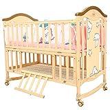 Baybee Ga Ga Wooden Cradle for Babies-Newborn Baby Cradle with Rocker 9 in
