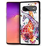 for Samsung S10+, Galaxy S10 Plus, Durable Protective Soft Back Case Phone Cover, HOT12437 Giraffe