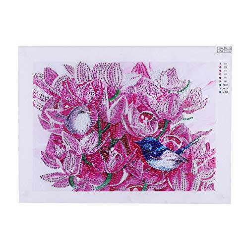 Leeofty DIY 5D Pintura Diamante Kits DIY Broca Pintura Diamante Needlework Pintura De Cristal Strass Ponto Cruz Mosaico Pinturas Artes Artesanais para Casa Decoração Da Parede de Presente 30 * 40 cm
