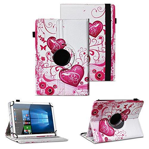 NAUC Tablet Hulle kompatibel fur Lenovo Tab 2 A10 70 Tasche Schutztasche Cover Schutz Case 360 Drehbar Etui hochwertiges Kunst Leder FarbenMotiv 6