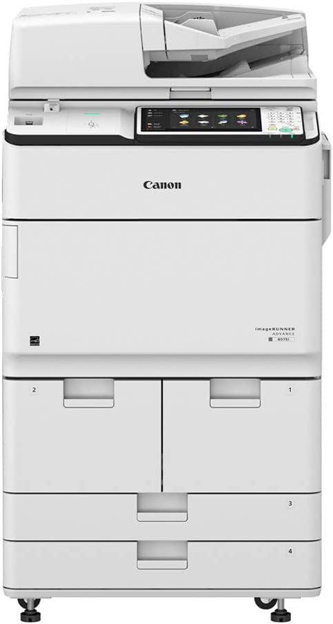 Canon ImageRunner Advance 8585 A3 Monochrome Laser Multifunction Printer - 85ppm, SRA3/A3/A4, Print, Copy, Scan, Email, Internet Fax, Auto Duplex, Network, Wireless, 1200 x 1200 DPI, 2 Trays, Stand