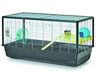 BIG HAMSTER PARADISE: The Savic Plaza is the perfect extra large Hamster cage. It features a large 40 Inch by 20 Inch foot print and includes all the necessary cage accessories. EVERYTHING YOU NEED: The Hamster Plaza features multiple accessories inc...