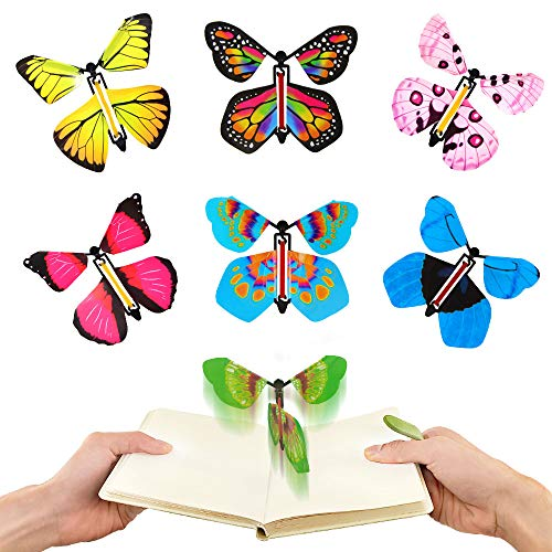 heytech Magic Flying Butterfly (15 pcs) Surprise Toys, for Christmas Stocking Stuffers, for Birthday Cards, Greeting Cards Gifts for Mother, Girlfriend and Friend