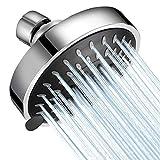 High Pressure Shower Head WarmSpray 5 Modes Bathroom Showerhead 4 Inch High Flow Shower Head with...