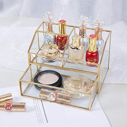 Runsmooth Kosmetik Schmuck Rack Makeup Organizer Box Display Tisch Aufbewahrungsbox mit Schubladen, klar